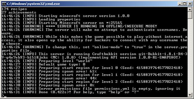 Как создать сервер minecraft