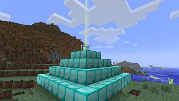 Маяк в Minecraft 1.4