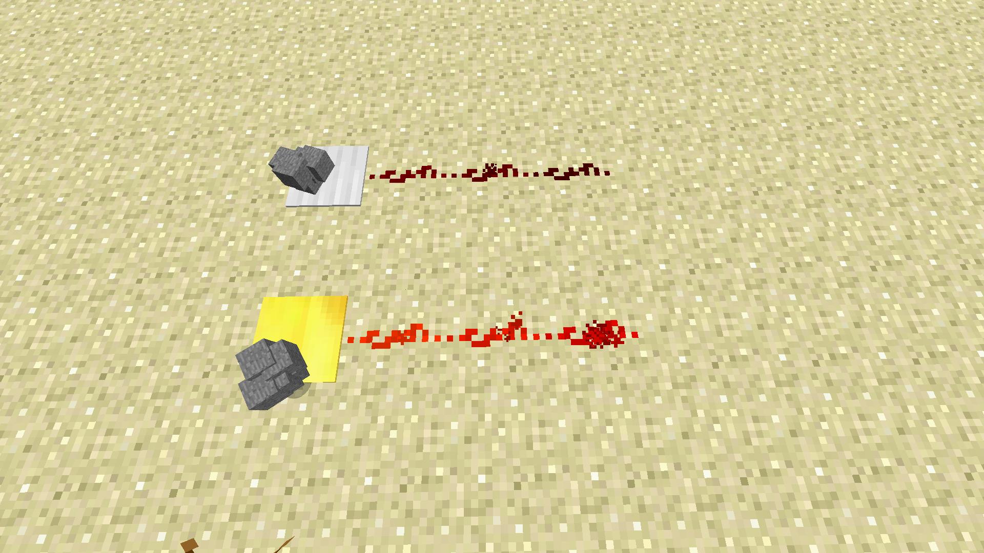 Железная весовая плита и золотая весовая плита в minecraft