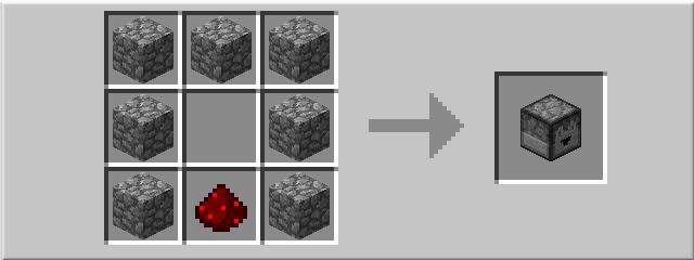 Рецепт выбрасывателя в minecraft