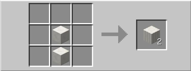 Рецепт кварцевой колонны в minecraft