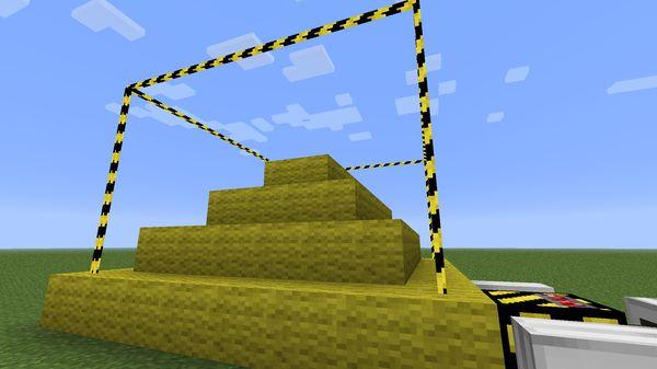 Buildcraft заполнитель построил пирамиду